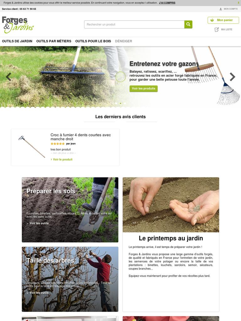 Forges & Jardins : vente d\'outils de jardin et de déneigement ...