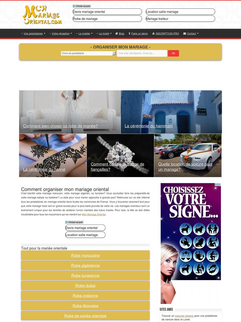 obtenez une meilleure organisation pour votre mariage oriental artistes webfrance. Black Bedroom Furniture Sets. Home Design Ideas