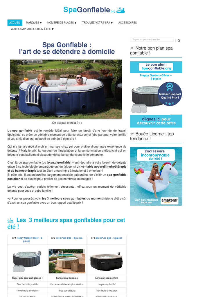 Le guide des jacuzzis gonflables - Guide achat spa gonflable ...