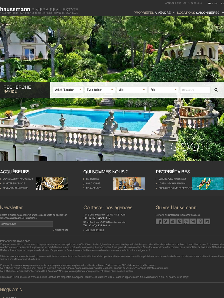 Agence immobili re haussmann immobilier webfrance for Agence immobiliere 57