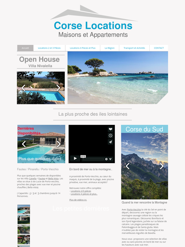 Corse locations vacances location immobilier webfrance for Site immobilier location