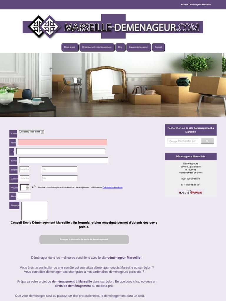 devis demenagement marseille. Black Bedroom Furniture Sets. Home Design Ideas
