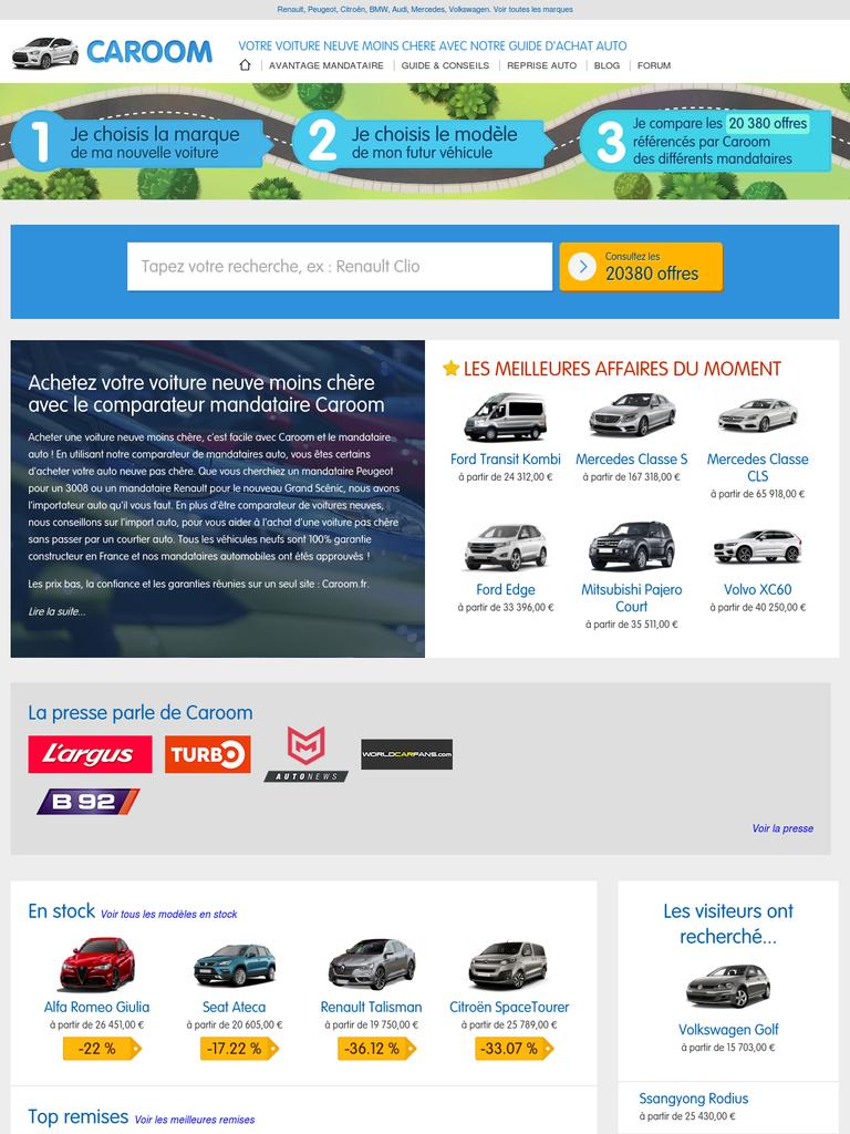 caroom vous conseille avant d 39 acheter votre voiture concessionnaires auto webfrance. Black Bedroom Furniture Sets. Home Design Ideas