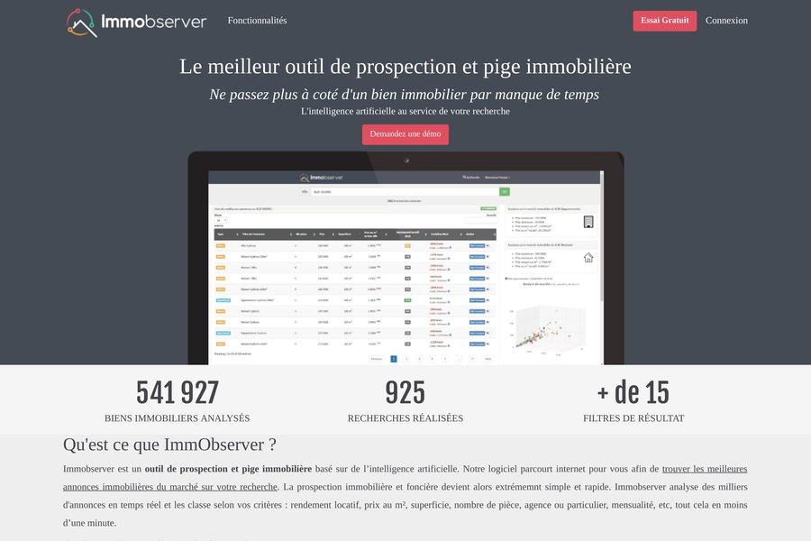 Immobserver Outil De Prospection Et De Pige Immobiliere Immobilier Webfrance